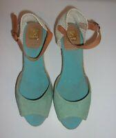 Women's KANNA Espadrille Faux Suede Wedge Sandals Shoes SIZE US11 EU 42