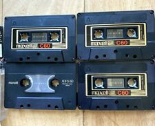 Used 4 Maxell UDXLII C-60 (3) XLII-S (1) 60 Cassette tapes.  Excellent Condition
