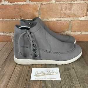 Bearpaw Dove Grey Piper Microsuede Lightweight Booties Ankle Boots Womens Size 8