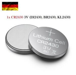 Batterie Knopfzelle CR2430 Dl2430 BR2430 Ersatz Uhren, Wecker Elektronik 3V