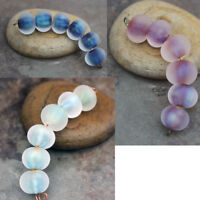Frost -  Handmade Frosted Glass Lampwork Beads MTO - Choose Color
