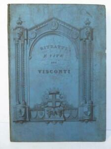 Rare Album Portraits VISCONTI DI MILANO Genealogie Heraldique LITTA 1847 ITALIE