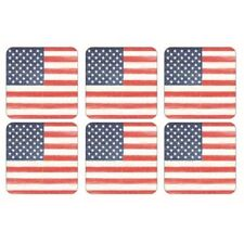 Pimpernel American Flag Coaster Set of 6