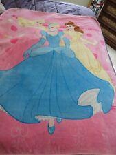 "Disney Princess Plush Fleece Blanket Throw 48"" x 63"""