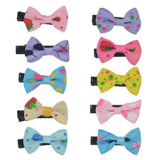 10PCS Girls Bows Snaps Alligator Clips Hair Clip Baby Kids Hair Accessories Gift