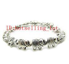 yang1Beautiful New in tibet style tibetan silver Asian elephant bracelet jewelry