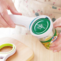 3 in 1 Adjustable Jar Opener Bottle Cap Can Ring Pull Pry - By TRIXES