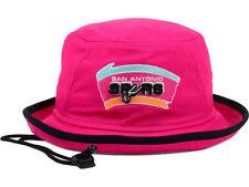 San Antonio Spurs NBA Team New Era Rose and Black Tipped Bucket Hat Sun Cap XL
