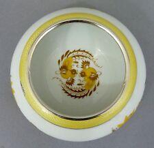 Meissen piattino giallo hofdrache, Argento Rand, guilloche SMALTO, D = 10cm