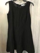 Calvin Klein Women's Dress Black Linen Blend Dress Size 8