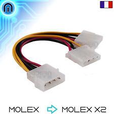 Câble double Molex adaptateur d'alimentation IDE dédoubleur Y mâle femelle 4PIN