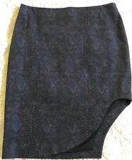 Altuzarra Navy Blue Print Cotton Mid Length Skirt Size 8