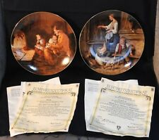 Lot of 2 Langenthal Plates Anker Heritage Collection Coa/Box At the Grandparents