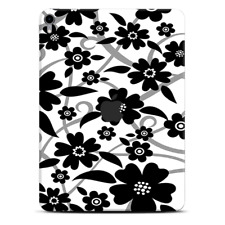 Skins Decal Wrap for Apple iPad Pro 11 2018 Black white Flower Print