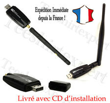 Adaptateur Cle USB Wifi + Antenne Windows 10/8/7/Vista/XP Ubuntu Chipset realtek