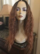 Superbe Perruque lace front wig Rousse Futura