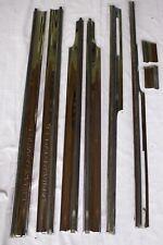 FULL SET 94-96 CADILLAC SEDAN DEVILLE LEFT FRONT CHROME DOOR TRIM MOLDING OEM