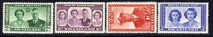 Swaziland 1947 KGV1 Set of 4 Royal Wedding Umm SG 42 - 45 ( D625 )