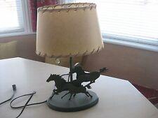 WESTERN COWBOY METAL MUSTANG LAMP HORSES WESTERN DECOR