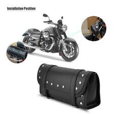 Borsa Moto in PU Pelle Front/Rear Borsone a Rullo Da Sella Nero Custom Cross Bag