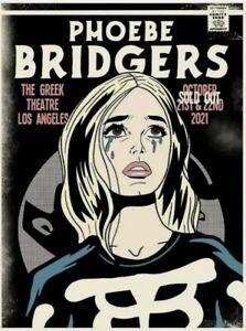 Phoebe Bridgers Limited Edition Screen Print Greek Theatre LA Sold Out 2021