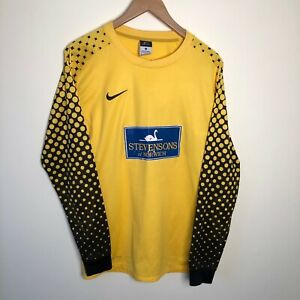 Nike Stevensons of Norwich Yellow Dri Fit Goalkeeper Goalie Shirt Top Small S