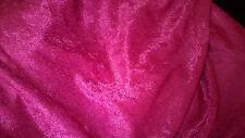 tissu extensible velours panne col framboise 50x150  cm