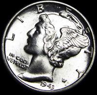 1943-D FB Mercury Dime ---- GEM BU++ FB ---- #B553