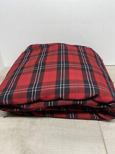 BERRY SATIN PLAID Fabric (5 YARD) 100 % Polyester 4lbs 7oz
