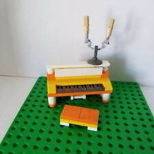 Lego Instrument Piano ORANGE YELLOW Candle Opera Bench Classic Music Upright