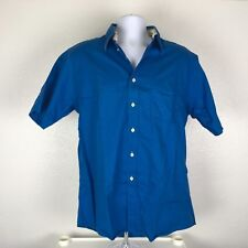 Mens Size L Mahi Mahi Cotton Casual Blue Shirt ~b12