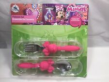 DISNEY ~MINNIE MOUSE~FLATWARE SET WITH TRAVEL CONTAINER (SPOON/FORK)