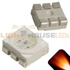 100 x LED PLCC6 5050 Amber Orange SMD LEDs Light Super Ultra Bright Car PLCC-6