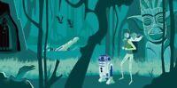 Josh Agle SHAG STAR WARS Art Print Dilemma on Dagobah S# 200 Disney Lucas Poster