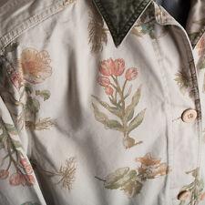 Vintage Eddie Bauer Womens Cotton Canvas Floral Jacket Barn Chore Field  Medium