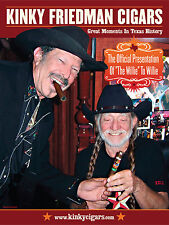 Kinky Friedman and Willie Nelson Poster - Small