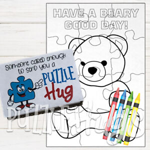 """""""Teddy Bear"""" Children's Coloring """"book"""" Puzzle (Puzzle Hug)"""