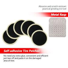 6Pc Radial Tire Repair Round Patch Kit Tool Bike Bicycle Inner Tube+A Metal Rasp