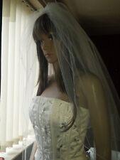 "Ivoire bout des doigts mariage voile avec strass cristal strass 2 T 30""/42"""