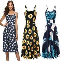 Maxi casual sundress Womens party long boho summer cocktail dress evening beach