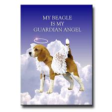 Beagle Guardian Angel Fridge Magnet Pet Loss