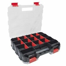 DOUBLE SIDED SCREWS NAILS STORAGE BOX 34 COMPARTMENT SECTION PLASTIC ORGANISER