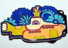 "BEATLES 60s Pop Rock and Roll Band YELLOW SUBMARINE Metal BELT BUCKLE 4-1/2"" New"