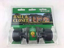 GUARD SECURITY HALL & CLOSET LOCKSET - DARK OIL RUBBED BRONZE - NEW