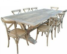 ANAIS FRENCH PROVINCIAL DINING TABLE RECYCLED TIMBER HARDWOOD 265 CM. RUSTIC