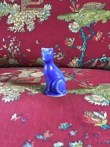 Shawnee USA Pottery Cobalt Blue Miniature Cat.