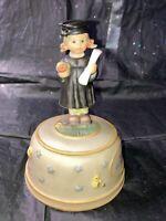 Berta Hummel Graduation Wish music box Goebel 2003 Reach for the Stars