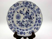 Meissner Porzellan Teller 20 cm Durchmesser blau/ weiß Meißen Porzellan [schw