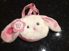 FANCY PALS Toy Pet Carrier Purse Bag White Rabbit Plush, Easter NWT Bunny