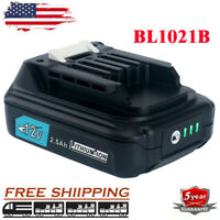 2.5 Ah For Makita BL1021B Max CXT 12V Lithium-Ion BL1041B BL1016 BL1015B Battery